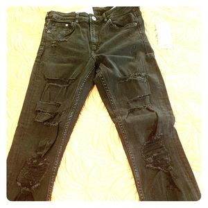 H&M Ripped Skinny High Waist Jeans NWT